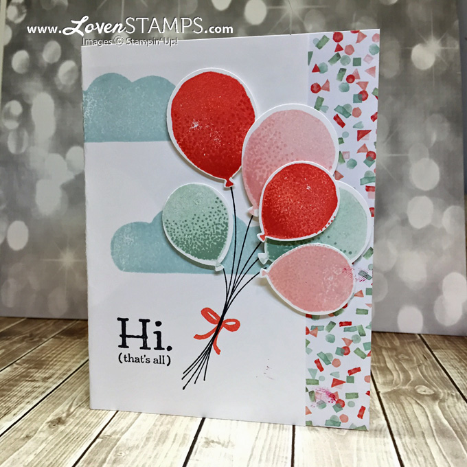 LovenStamps: Balloon Celebration and the Balloon Bouquet Punch - Video Tutorial for the Pop-Up Snow Cone (Half-Circle Pop-Up) Card