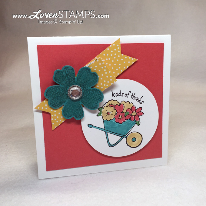 LovenStamps: Clean and Simple card idea with You're Sublime and the Flower Shop stamp/punch bundle, supplies Stampin' Up!