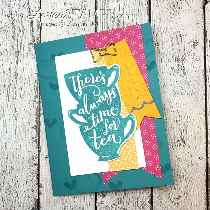 LovenStamps: A Nice Cuppa - Stamps in the Mail Club kit for April 2016, all supplies Stampin' Up! - kits exclusively at LovenStamps