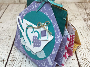 LovenStamps: A Nice Cuppa - 6 pocket treats and tea bag holder - Mini Gift Idea for Stamps in the Mail Club with Meg (all supplies Stampin' Up!) - get your kit at LovenStamps