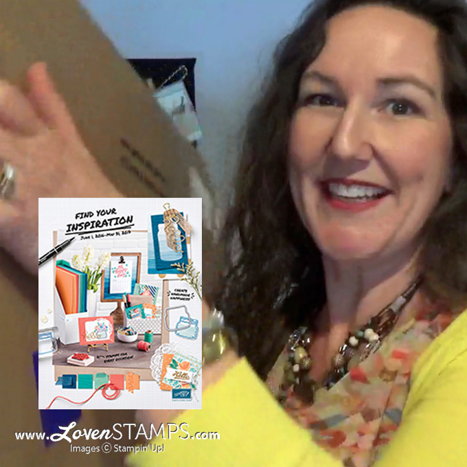 Sneak Peek at the NEW Stampin' Up! Catalog for 2016-2017 - unboxing video from LovenStamps with the OnStage2016 Pre-Order items
