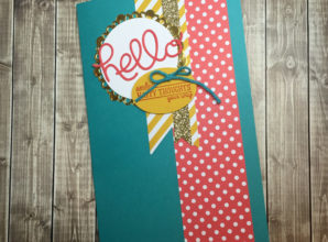 LovenStamps: All Boxed Up gift note pad cover for Stamps in the Mail Club, May 2016 DIY notebook video tutorial