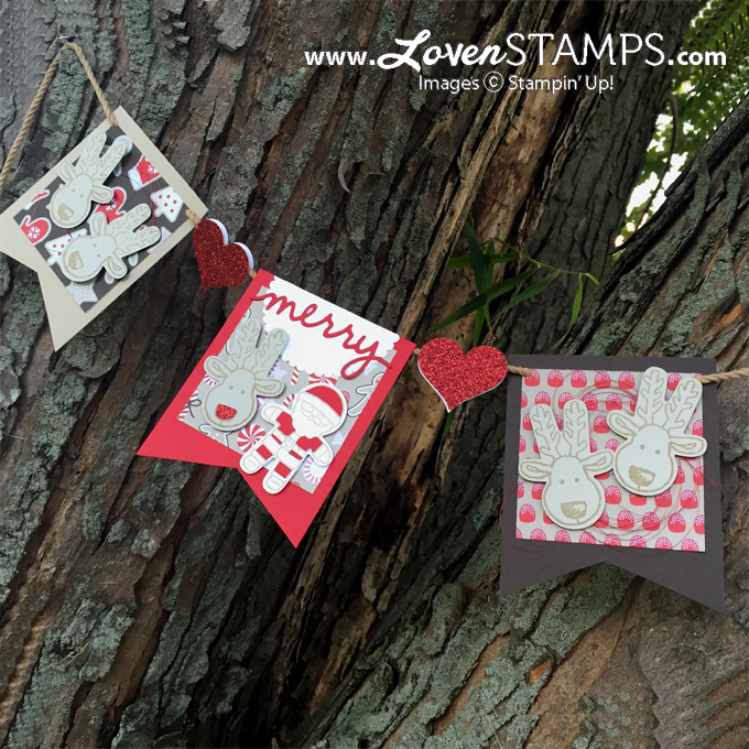 LovenStamps Project Kit: Make Your Own Cookie Cutter Christmas Banner - featuring Candy Cane Lane Designer Paper for Stamps in the Mail Club with Meg