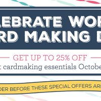 World Card Making Day: Specials up to 25% off for only 5 days