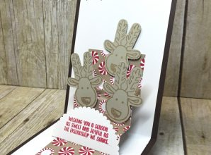 LovenStamps: Video Tutorial for making your own Stair Step Pop-Up Card - with the reindeer from Cookie Cutter Christmas, for Stamps in the Mail Club with Meg
