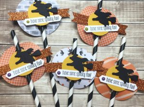 LovenStamps: Halloween fun favors - with Spooky Fun and the Halloween Scene Edgelits, make your own paper straws