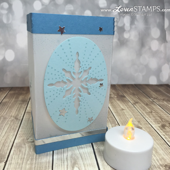 LovenStamps: Star of Light and the Starlight Thinlits - tealight vellum candle holder tutorial