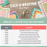 9 Days Left: NEW Sale-A-Bration Selections Added!