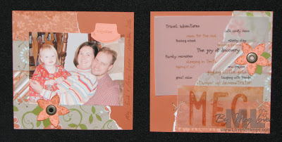 thankful scrapbook pages - meg