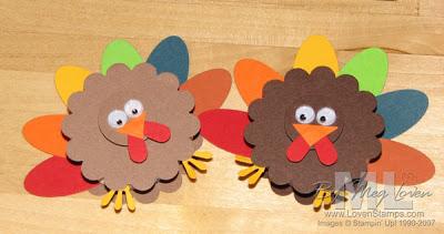 thanksgiving turkeys - punch ideas