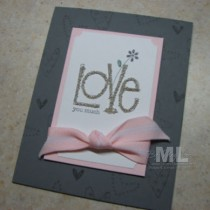 """Love You Much"" Microbeads Cards"