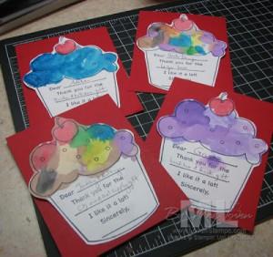 Abbys Cupcake Artwork - Stampin Up