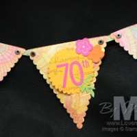 70 Years, Stampin' Style Pennant Banners