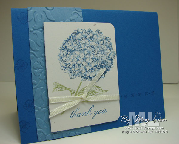 just because card hostess set hydrangea stampin up