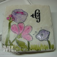 Painted Tile Project: Holiday Gift Idea