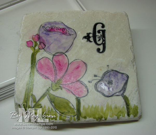 Painted Tile Project Holiday Gift Idea Lovenstamps