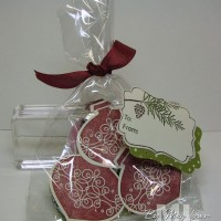 Stamping with Chocolate: Candy Ornaments