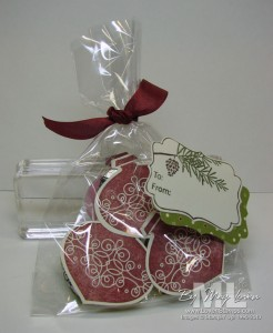 tags til christmas ornament decorative label punch idea candy gift