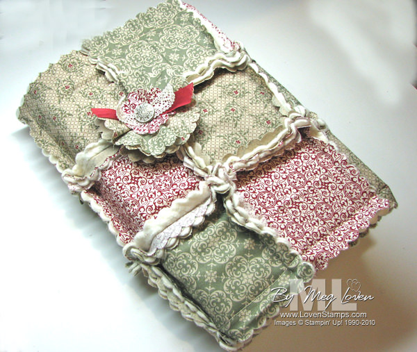 How To Make A Quilted Book Cover : A big shot christmas quilted book covers lovenstamps