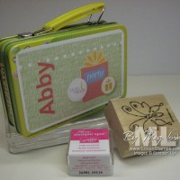 1st Grade Birthday Treat: Stamps, Ink and an MDS Lunchbox