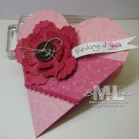 Petal Cone Die Video Tutorial: A Mini Scrapbook Gift