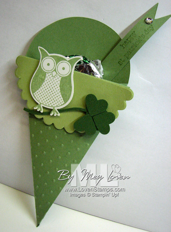 st patricks day owl punch bunch petal cone shamrock