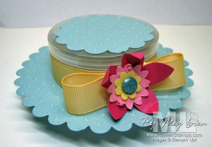 scallop circle-easter-bonnet stampin stack store container candy favor