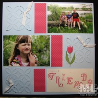 Build A Blossom Tulips: Scrapbooks for Spring
