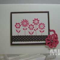 Hello Blossoms: Pinks & Browns in Layers (Sneak Peek)