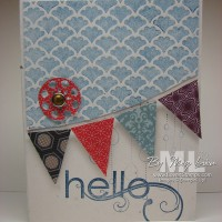 Pennants, Pennants Everywhere: perfect for cards, too