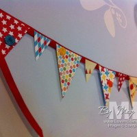 Perfect Pennant Party Banner: just add glue