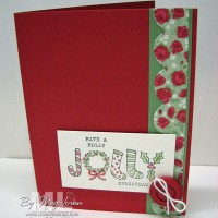 Fun & Festive: Easy to duplicate Christmas Card