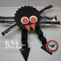 Spooky Scallop Circle Spiders: too cute to eat