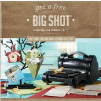 FREE Big Shot New Stampin Up Demonstrator Special Sale