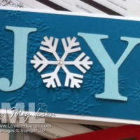 Christmas Card: JOY in the Snow