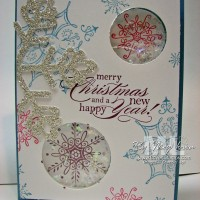 Serene Snowflakes: A Simple Shaker Frames Card