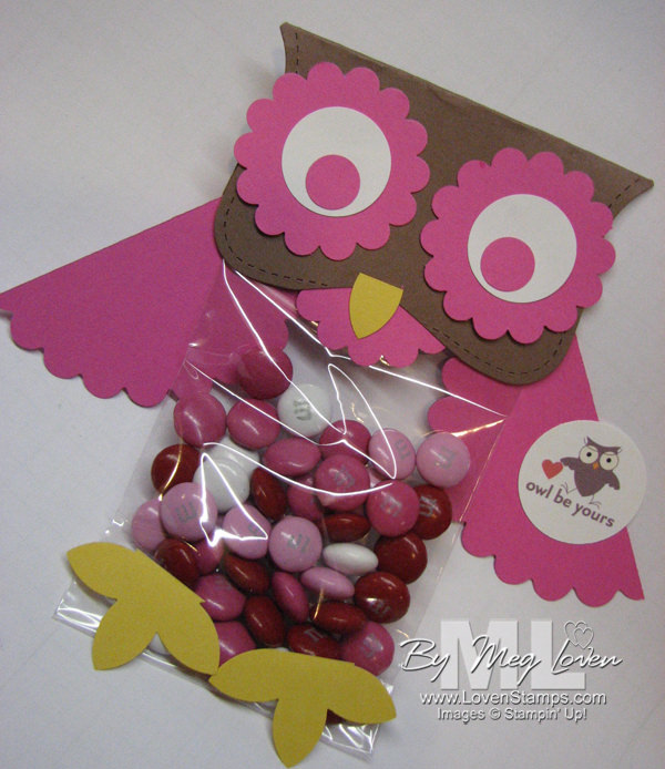 Top Note Owl Topper for Cello Bags - perfect school valentine treats for parties