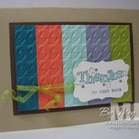 Stamping Efficiently: Use your scraps