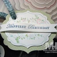 Labels Framelits Tutorial: Happy Birthday Tag