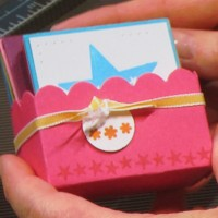 Scallop Square Die: Gift Boxes made easy