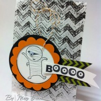 Ghoulish Googly Treat Bags: Chevron Embossing