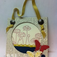 Pleasant Poppies Door Hanger