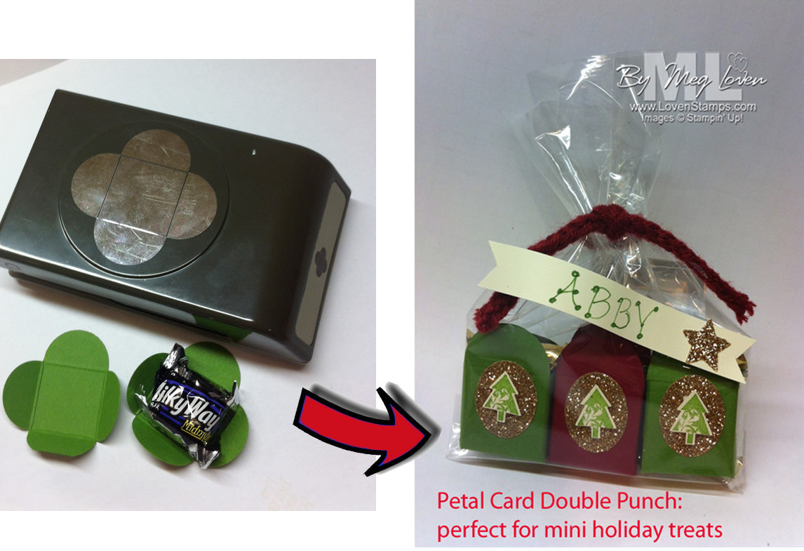Merry Minis Punch Treats with the Petal Card Double Punch