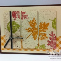 Gently Falling: Three Panel Cards for Fall