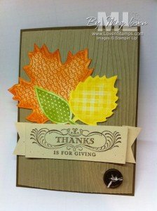 Autumn Accents Big Shot Die - Thanks is for Giving - LovenStamps