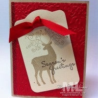Christmas Deer: Quick Tag Card Idea