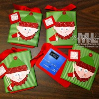 Elf on the Shelf: Punch Art for Gift Cards