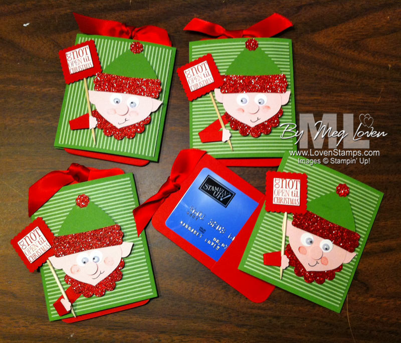 Elf on the Shelf: Punch Art for Gift Cards | LovenStamps