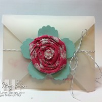 Jumbo Sticky Rounds: Twisted Fabric Flowers