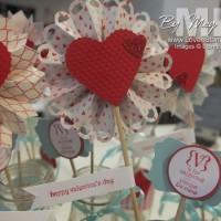 Valentine BINGO Centerpieces: table decor ideas